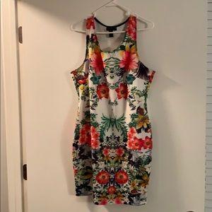 Tropical tank dress
